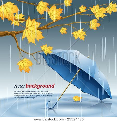 Fondo de Vector sobre un tema de otoño