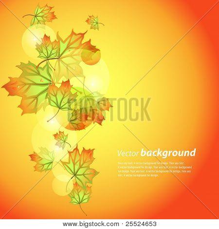 Vektor Hintergrund über ein Thema des Herbstes