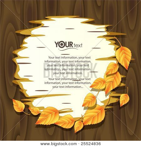 Vector background for design on a theme of autumn