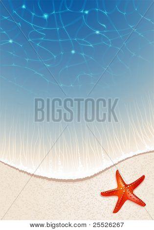 Fondo para el diseño de los temas del mar con una playa