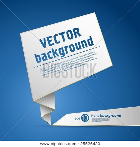 Abstract origami speech vector background
