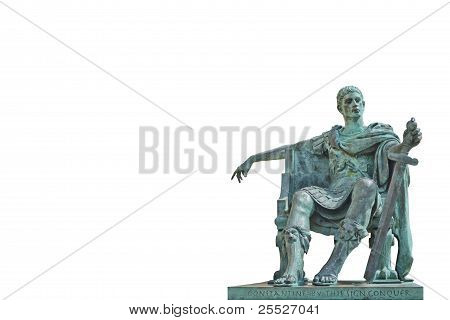 Bronze Statue Of Constantine Isolated