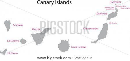 灰色加那利群岛地图