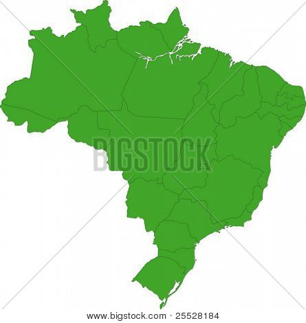 Map of the states of Brazil