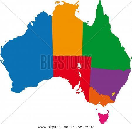 Map of administrative divisions of Australia