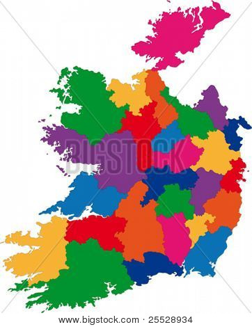 Map of administrative divisions of Republic of Ireland