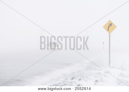 Car In A Blizzard