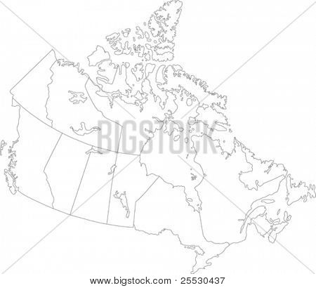Canada map with province borders