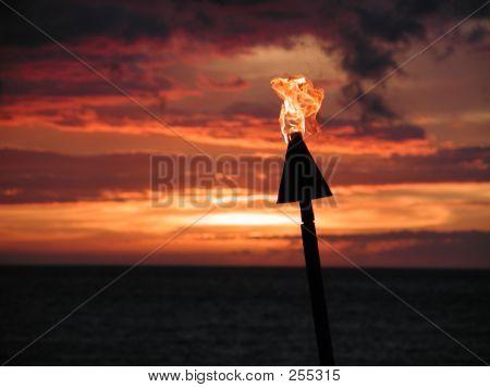 Tiki Torch Sunset