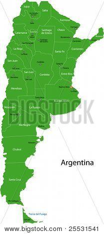 Karte der Stadtbezirke von Argentinien