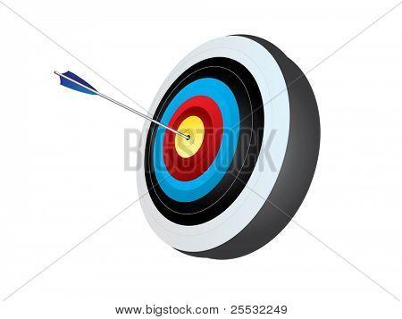 blanco de tiro con arco con flecha