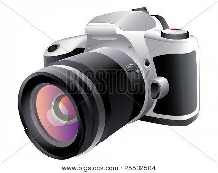 Ilustração em vetor de câmera digital