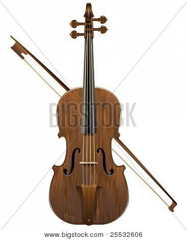 Vector illustration of violin