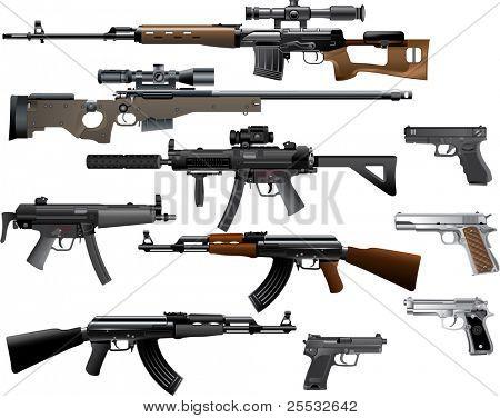 Waffe-Sammlung