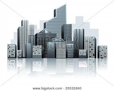 Vector de ciudad urbana