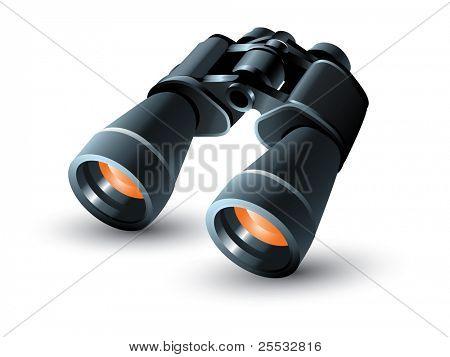 Realistic binoculars vector