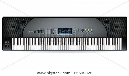 electronic musical keyboard synthesizer