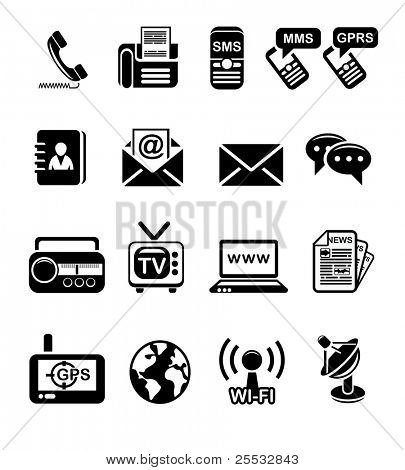 Communication and information icon set
