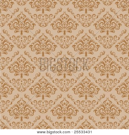 Seamless floral background. Vector pattern.