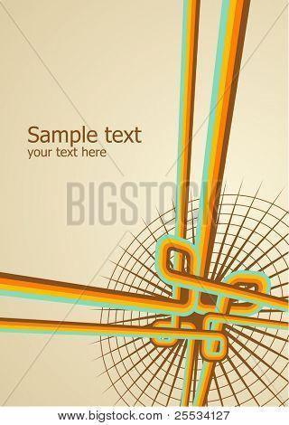 Abstract background. Vector illustration. Grunge design templete.