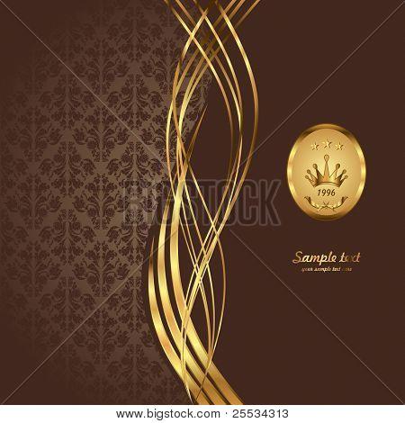Gold and burgundy background illustration.