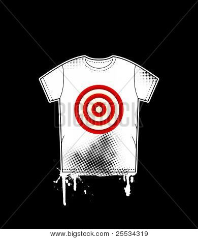 Shirt template with target. Vector design illustration.