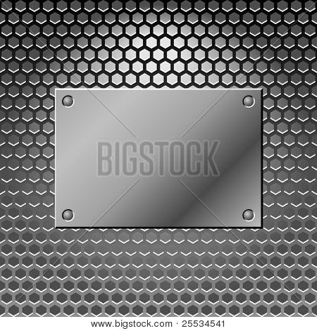 Abstract metal background. Steel. Vector illustratoion with place for your slogan.