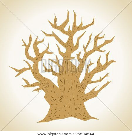 Old tree. Concept vector illustration for your design.