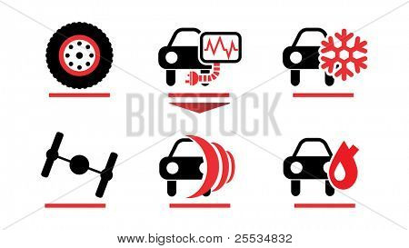 Car care icons