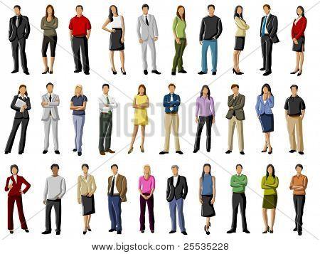 Grupo de personas de negocios y oficina