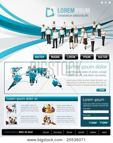 Blue and gray business website Template