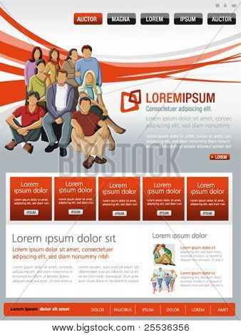 Red and gray business website Template