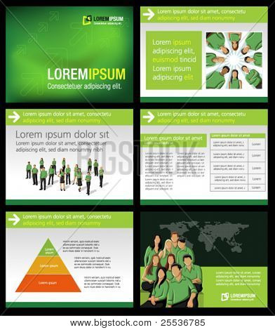 Green business Template. Vector illustration.