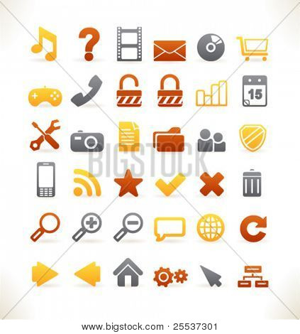 Set of 36 beautiful vector web icons