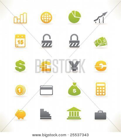 Conjunto de hermosas vector web iconos vol.3 finanzas