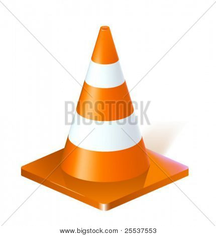 Vector realistic traffic cone