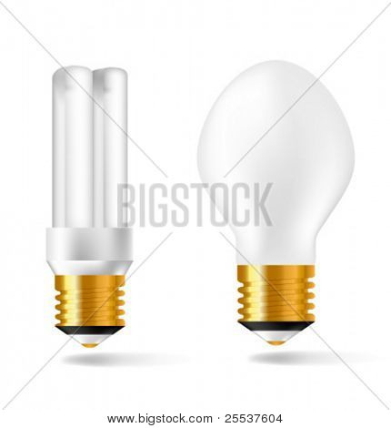 Vector electrical lamps with golden elements