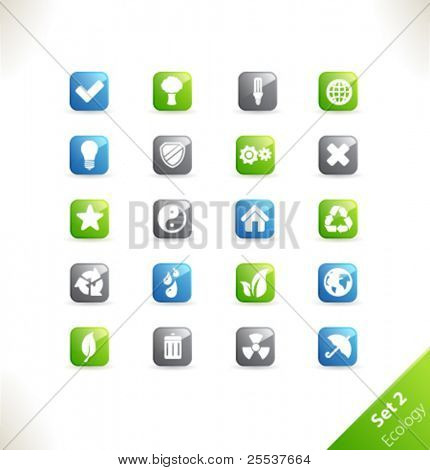 Vector beautiful icon set. Part 2 - Ecology