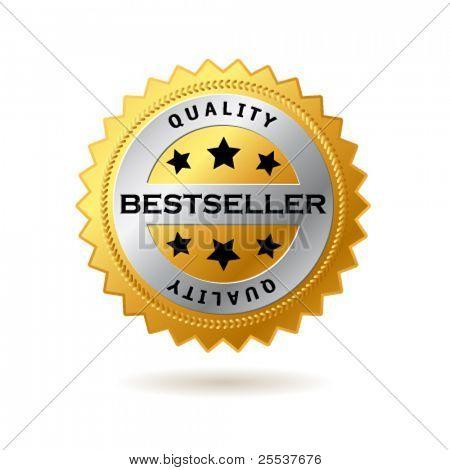 Vector bestseller golden label