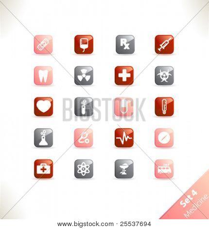 Vector beautiful icon set. Part 4 - Medicine
