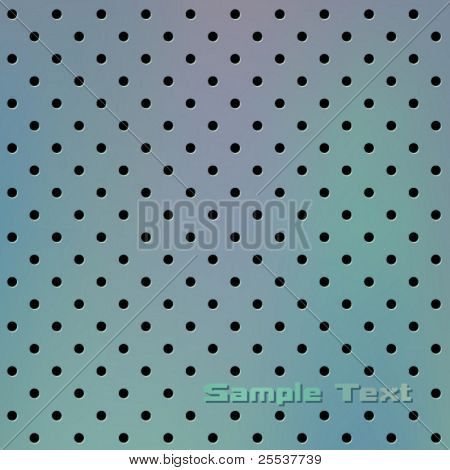 Vector perforeated metal background