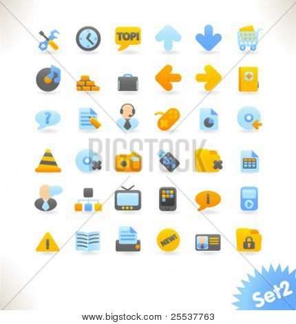 Beautiful vector web icon collection. Set 1.