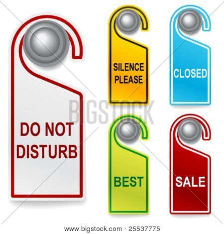 Set of vector do not disturbe signs