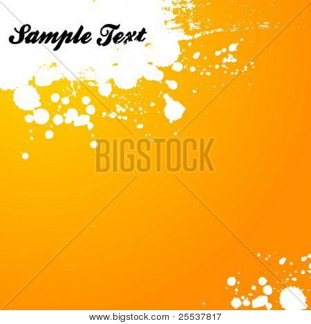 Vector abstract background with ink splash