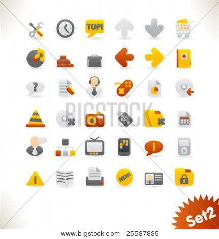 Colección de iconos de vector hermosa web. Set 2.