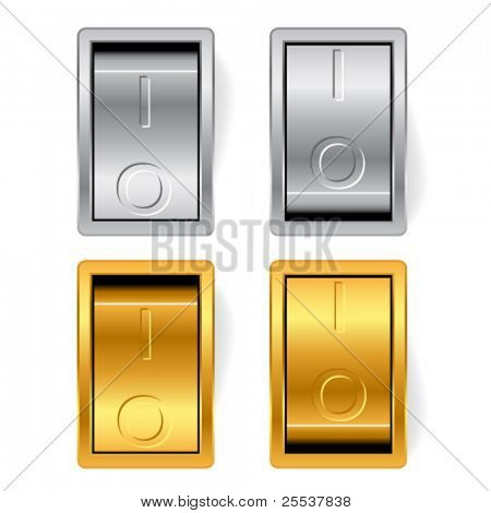 Vector gold and silver switches