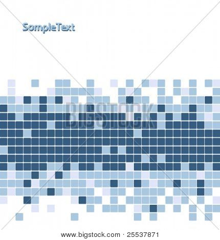 Abstract vector mosaic background