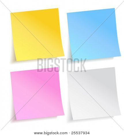 Vector colorful paper note stickers