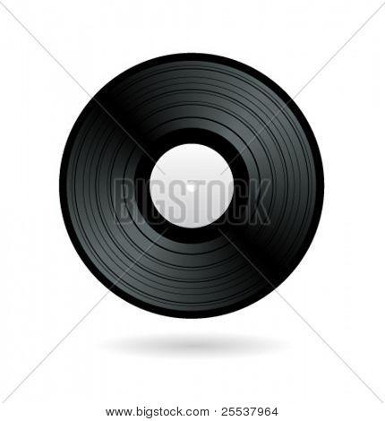 Vector vinyl record.
