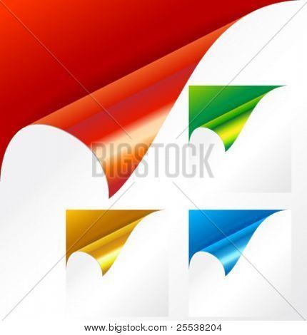 Vector metallic corner pack